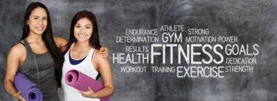Plakát Fitness cvičení