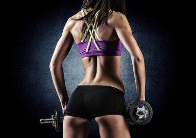 Plakát Fitness sportovní žena v tréninku