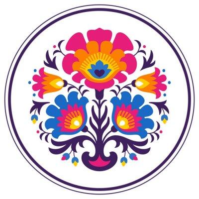 Plakát Folk papercuts - Flowers