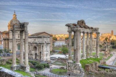 Plakát Forum Romanum Sunset HDR