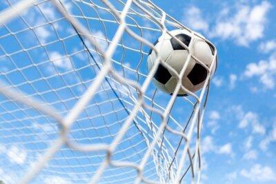 Plakát Fotbal, cíl, fotbalový míč.