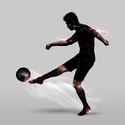 Plakát fotbalista Halfvolej
