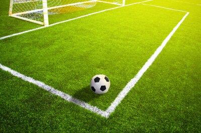 Plakát Fotbalové louky s označením a míčem, Sport