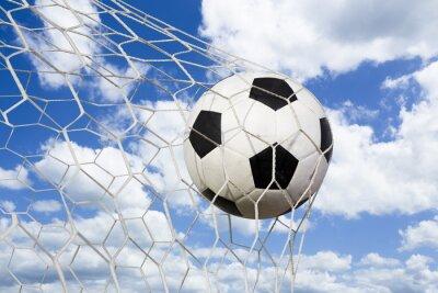 Plakát fotbalový míč do branky