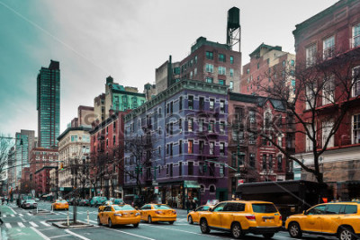Plakát Fotografie z budov a ulic Upper West Site Manhattanu v New Yorku