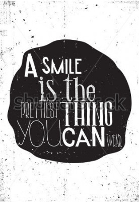 Plakát Fráze, úsměv je nejkrásnější věc, máte rádi nosit