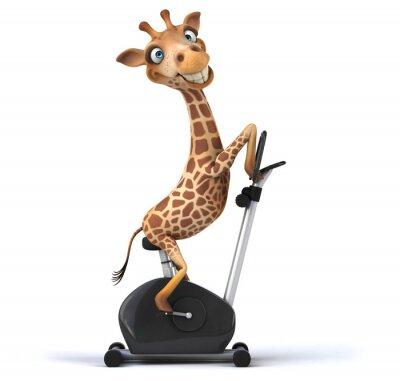 Plakát Fun giraffe