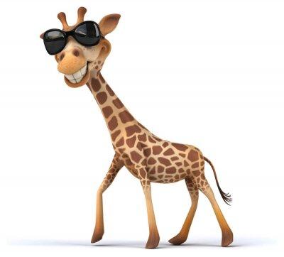 Plakát Fun žirafa
