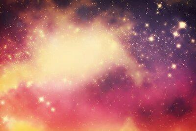 Plakát Galaxy s hvězdami a fantasy vesmíru prostoru.