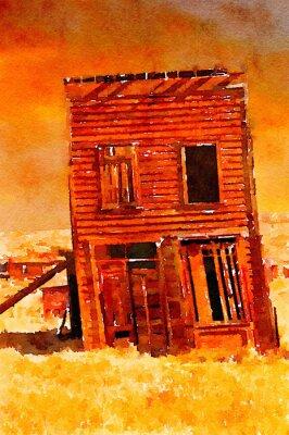 Plakát Ghost Town Building