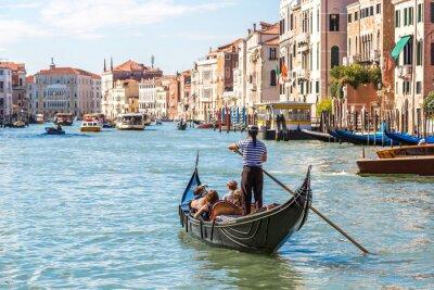 Plakát Gondola na Canal Grande v Benátkách