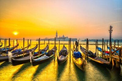 Plakát Gondoly v Benátkách, Itálie