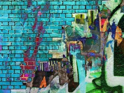 Plakát Graffiti collage. Abstract texture