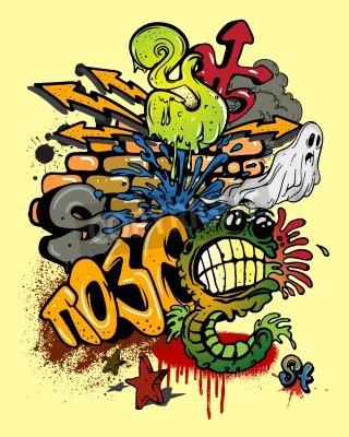 Plakát Graffiti elements.