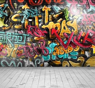 Plakát Graffiti on wall, eps 10