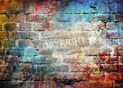Plakát Graffiti stěna pozadí