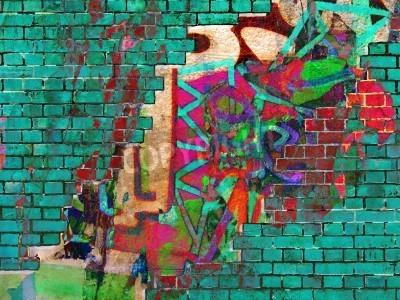 Plakát Graffiti textury. Abstraktní koláž.