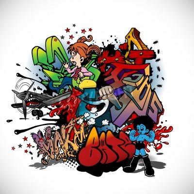Plakát Graffiti, urban art
