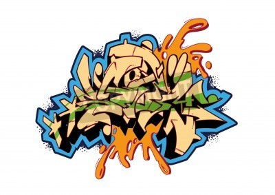 Plakát Graffiti vector sketch design, word STORM. This is my illustration.