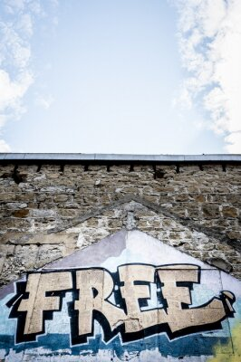 Plakát graffiti zdarma