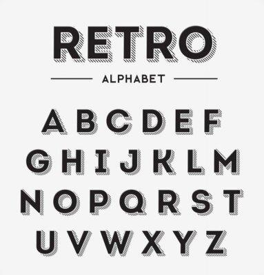 Plakát Grafické Retro Dopisy set