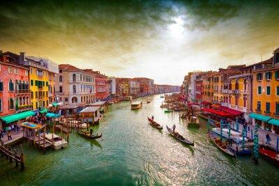 Plakát Grand Canal, Benátky, Itálie.