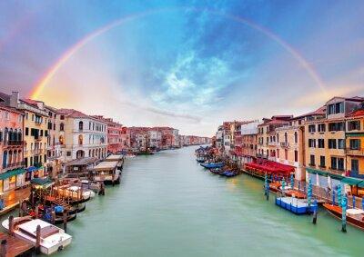 Plakát Grand Canal - Benátky od mostu Rialto