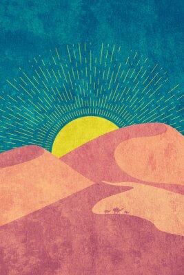 Plakát Grunge desert dunes