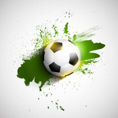Plakát Grunge fotbal / fotbalový míč pozadí