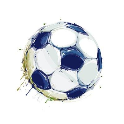 Plakát Grunge fotbalový míč