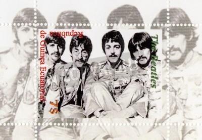 Plakát Guinea - cca 1996: The Beatles - 1960 slavný muzikál popová skupina