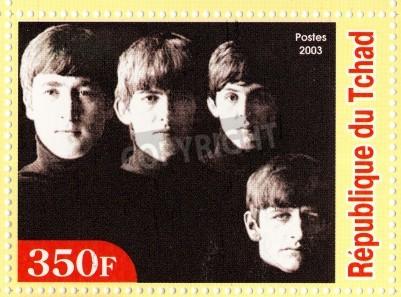 Plakát GUINEA - cca 2003: The Beatles - 1980 slavný muzikál popová skupina.