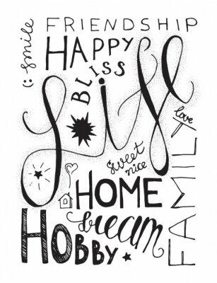 Plakát Happy Life popisovaného