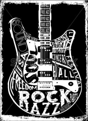 Plakát Hard Rock Music plakát