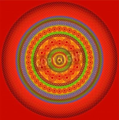 Plakát Henna mandala design