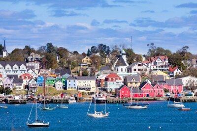 Plakát Historický přístav Lunenburg Nova Scotia NS Kanada