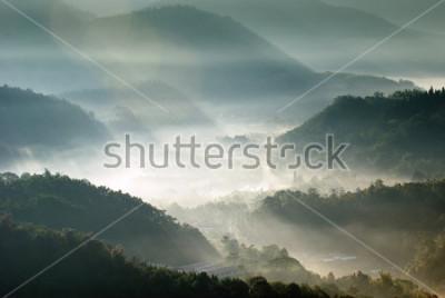 Plakát horské údolí