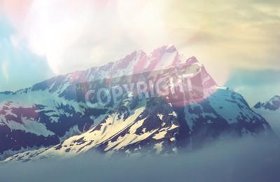 Plakát horský vrchol