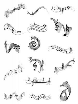 Plakát Hudba vír set