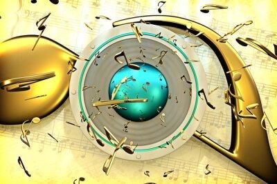 Plakát hudební koncept