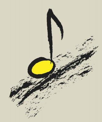 Plakát hudební koncept nota, design logo