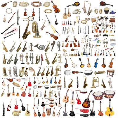 Plakát hudební nástroje
