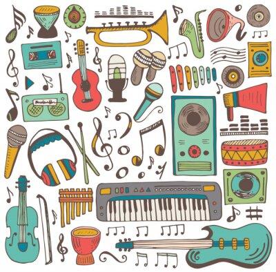 Plakát Hudební sbírka doodle
