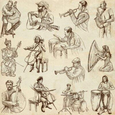 Plakát Hudebníci a hudby po celém světě (nastaven. 2, papír)