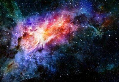Plakát hvězdnou hluboký vesmír mlhoviny a galaxie