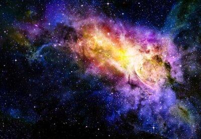 Plakát hvězdnou hluboký vesmír nebual a galaxie