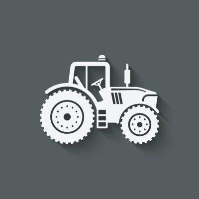 Plakát ikona traktor silueta