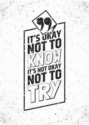 Plakát Inspirující citace v rámečku na výstřední pozadí. Vektorové ilustrace.