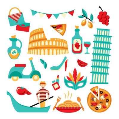 Plakát Itálie dekorativní set