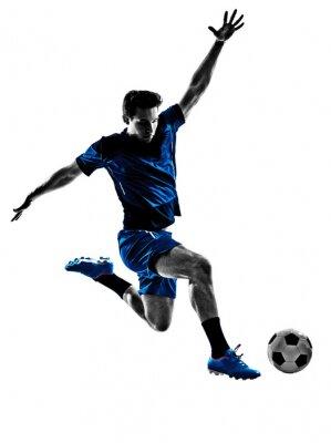 Plakát Italský fotbalista silueta muže